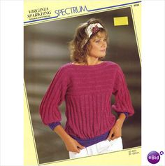 Ladies Sweater / jumper double knitting pattern womens DK Spectrum patterns 6034 on eBid United Kingdom