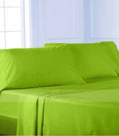 Exceptional Parrot Green Egyptian Cotton Bedding Sheet Set 1000TC