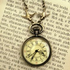 Brass Pocket Watch Necklace number 10 by ragtrader on Etsy, $34.00