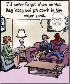 Super heroes and their moms #epic #spiderman #mother