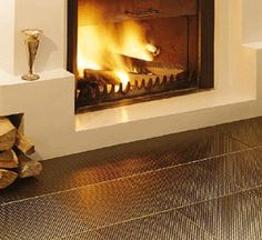 stainless steel tiles for wall or floor decor, decorative metal tiles    http://rbctile.com/series/urban-renewal-2/