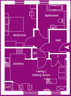Flat 1 Rosebay Drive - a ground floor 1 bedroom apartment.