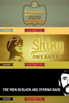 Roadstar Font Family $40 2 x TTF and OTF Roadstar is a script designed in the style of the classic American advertising font from the