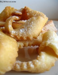 Ganses niçoises Beignets, Mardi Gras Carnival, Carnival Food, Churros, No Sugar Foods, French Food, Onion Rings, Biscuits, Gourmet Recipes