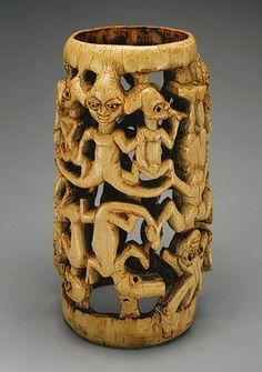 Bracelet, 17th–19th century Nigeria; Yoruba, Owo subgroup Ivory, wood or coconut shell inlay