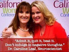 Dr. Caroline Leaf Dr. Leaf, gives some simple advice on quitting bad habits and addiction.