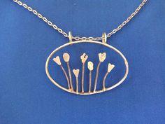 Çiçek bahçesi.El yapımı gümüş..handmade silver necklace