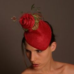 Joy Scott Millinery. Find this great piece and more at http://www.fashionattheraces.com/store