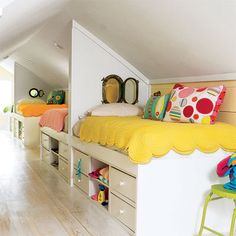 10 Fulfilled Clever Tips: Large Attic Space walk up attic renovation.Walk Up Attic Renovation. Room Colors, Room Design, Home, Girls Bedroom, Shared Bedroom, Bedroom Design, Shared Kids Room, Bright Rooms, Narrow Rooms