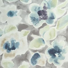 Florinda Fabric is a sophisticated floral print from the Dransfield and Ross Collection by P/Kaufmann. This design has the beautiful look of watercolor and is screen printed on a fine cotton base fabric.