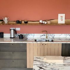 Red Kitchen Walls, Kitchen Paint Colors, Farrow And Ball Bedroom, Farrow And Ball Kitchen, Home Wall Painting, Reiki Room, Room Wall Colors, Laundry Room Remodel, Dining Room Inspiration