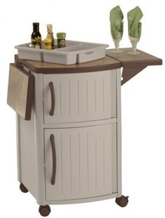 Suncast Outdoor Prep Station Patio Furniture Cabinet Serving Tray Storage Best #Suncast