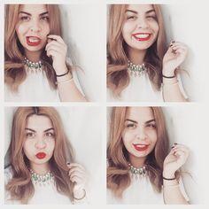 #selfie #collage #redlips #lexigrams #blonde #hair #statement #necklace