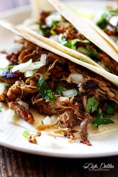 Crispy Pork Carnitas (Mexican Slow Cooked Pulled Pork) is a winner! The closest recipe to authentic Mexican Carnitas (NO LARD), with a perfect crisp finish!