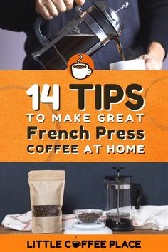 Wondering how to use your new French press? We'll share our top 14 tips to make the best French press coffee ever! #littlecoffeeplace #frenchpress #coffee #coffeetips Pour Over Coffee Maker, Best Coffee Maker, Fresh Coffee Beans, Fresh Roasted Coffee, Coffee Snobs, Little's Coffee, Best French Press Coffee, Travel Coffee Maker, Ways To Make Coffee