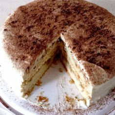 """Tiramisu Layer Cake I """"This is absolutely excellent, and it is not hard to make. It takes a little time, but it's not hard. I had SO many compliments on it!"""""""