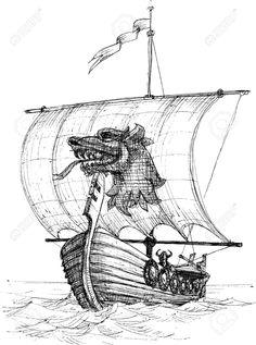 29234213-long-boat-drakkar-sketch-viking.jpg (965×1300)