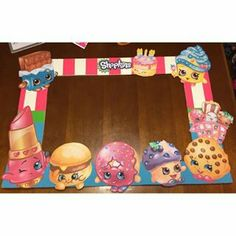 Shopkins photo booth frame