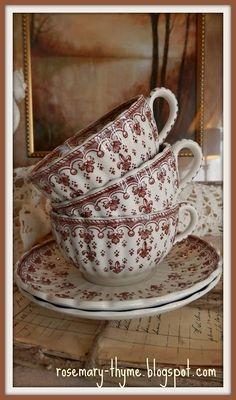 Spode Fleur-Di-Lis teacups
