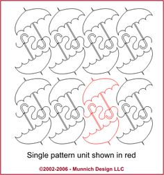 UMBRELLA MACHINE QUILTING PATTERN                 PC