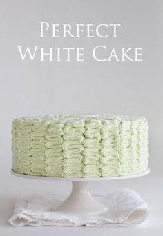 The Perfect Homemade White Cake!