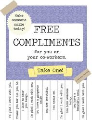 How To Rock Kindness At Your Day Job Free Compliments Poster The Break Room Edition
