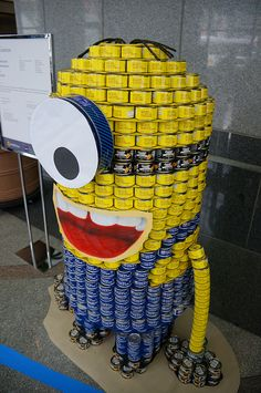 A minion from Canstruction 2012