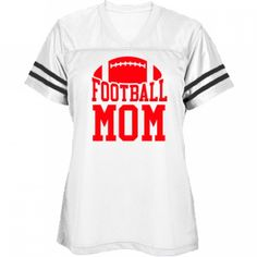 Metallic Red Football Mom Jersey: Misses Fit Mesh Football Jersey. Custom made and printed on demand when ordered. 3.5 oz, 100% polyester mesh body. 4.1 oz, 100% polyester dazzle yoke and sleeves. Crossover v-neck. Sporty, sewn-on sleeve stripes.