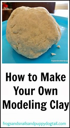 clay modeling for kids how to make