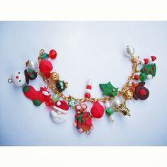 Christmasy! #Craciun#new#model#bracelet #jewelry #santa#claus#joyfull#christmas#time#work#in#progress #the#most #wonderful #time #of#the #year#snow #man#handmade#unique #bucuresti #brasovulmagic #brasov #romania#happiness#gift#