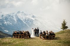 Our Wedding Ceremony in Jackson, Wyoming. The most beautiful day looking out over the Tetons at Amangni | allislovely.com | #wedding #jacksonhole #wyoming