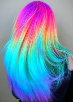 Experts who used to work ombre styles are now concentrating on fancy rainbow hair colors these days. Looking for Christmas Hair Colors Ideas? Here is 7 Crazy Rainbow Christmas Hair Colors Ideas for Trendy Girls to wear, Check them NOW Cute Hair Colors, Pretty Hair Color, Beautiful Hair Color, Hair Dye Colors, Unique Hair Color, Rainbow Hair Colors, Pastel Rainbow Hair, Colorful Hair, Hair Color For Kids