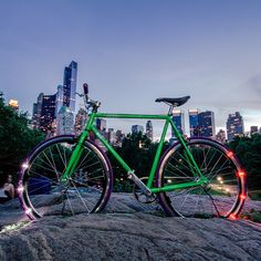 Gorgeous weekend ahead! Cruise around #CentralPark on our new YOTEL bikes by @msc_customs w/ lights by @revolights! #YOTELCruiser