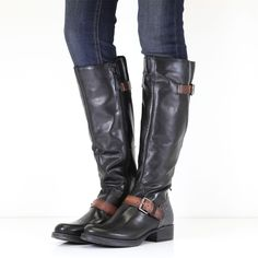 Grandi Black Casual Long Boots Long Boots, Knee High Boots, Wedge Boots, Tan Leather, Riding Boots, Wedges, Umbrellas, Stylish, Lady