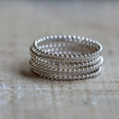 Bead wire stacking rings - praxis jewelry