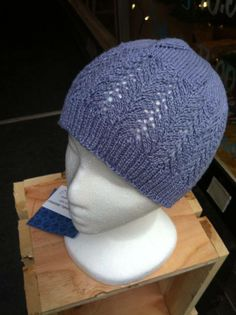 Arrowhead Lace Hat by Andrea Newell Greenfield! This close fitting hat is made from 100% bamboo that shows off the beautiful arrow head lace pattern to full advantage. (Hand wash cold, lay flat to dry) Get this wonderful accessory today for only $35!