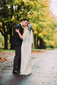 Autumnal Wedding at Rivington Hall Barn with Eclectic Vintage Decor. Bride in…