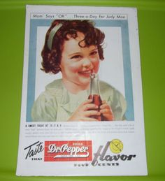 VINTAGE 50s LOT OF 2 LIFE MAGAZINE SODA ADS 7 UP & DR. PEPPER SHIRLEY TEMPLE #7UPDRPEPPERLUCKYSTRIKE
