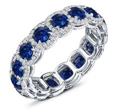 3.50 Carat Sapphire & 2.50 Carat Diamond Band this is so pretty but it would look awful with my current ring.