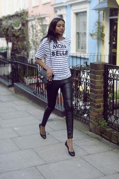 H & M leggings, River Island T-shirt, ASOS flats, Chanel bag.