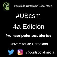 Un placer seguir siendo profesora del #Posgrado de Contenidos #socialmedia #UBscm 4a edición en las asignaturas de LinkedIn y Pinterest Si te apasiona este mundo, ya puedes inscribirte 😉 #LinkedIn #Pinterest #RedesSociales #Universidad #UB #UniversitatDeBarcelona #RRSS #SM #CèliaHil #XS #Universitat #CèliaHil #CeliaHil Marketing Digital, Socialism, The World, Professional Development, Human Resources, Teamwork