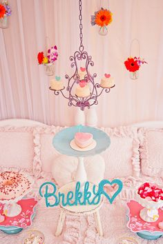 A chandelier with mini cakes,  Go To www.likegossip.com to get more Gossip News!