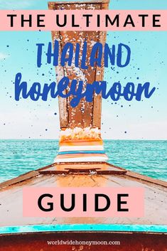 We wrote a super in-depth guide to planning a honeymoon to Thailand. From when to go a sample itinerary where to go where to stay things to do what to pack and more! Check out the ultimate guide to a Thailand Honeymoon! Thailand Honeymoon, Thailand Travel Guide, Visit Thailand, Best Honeymoon, Romantic Honeymoon, Honeymoon Destinations, Romantic Travel, Asia Travel, Honeymoon Budget