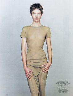 US Harper's Bazaar March 1993 Bare Photographer: Peter Lindbergh Model: Cecilia Chancellor Hair: Odile Gilbert Makeup: Stéphane Marais