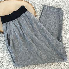 ZUMBA Gray Dance Workout Pants Loose Women's Size Sz L Large Loose Harem Capri #Zumba #Pants