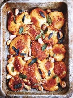 Recipes from all of the festive Jamie Oliver TV programmes. Find them all here, from the mulled wine to the best roast potatoes, and, of course, the turkey! Lemon Roasted Potatoes, Roasted Potato Recipes, Roasted Ham, Best Potato Recipes, Christmas Roast, Christmas Cooking, Christmas Recipes, Christmas Christmas, Vegetable Recipes