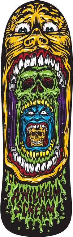 A Wilhelm Scream SK8 Deck by Jimbo Phillips Graphix