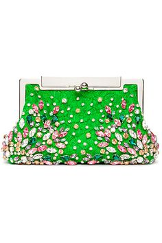 Neon green clutch bag from Dolce Gabbana Estilo Glam, Coach Purses, Coach Bags, Purses And Handbags, Coach Handbags, Dior Handbags, Beautiful Bags, My Bags, My Favorite Color