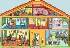 Big Talk - homes Spanish 1, Spanish House, Spanish Lessons, English Lessons, Spanish Teacher, Spanish Classroom, Teaching Spanish, Teaching English, Writing Pictures