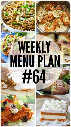 We've put together a WEEKLY MEAL PLAN to make your week a bit easier! We've got…